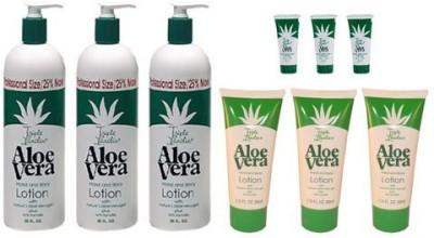 Triple Lanolin Aloe Vera Combo Hand & Body Lotion *contains 3- Bottle, 3-2.25 & 3- .75 Tubes
