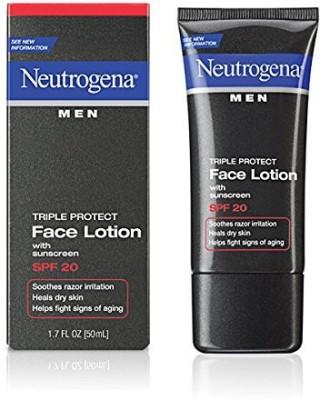Neutrogena Men Triple Protect Face Lotion SPF 20- (Pack of 4)