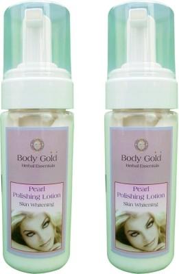Body Gold Pearl Polishing Lotion skin whitening set of 2