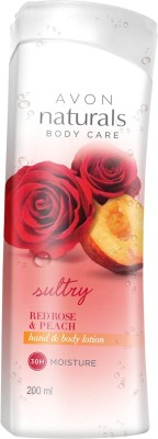 Avon Naturals Red Rose Peach Body Lotion