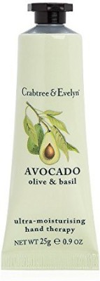 Crabtree & Evelyn Ultra-Moisturising Hand Therapy, Avocado, Olive and Basil(25 g)