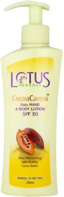 Lotus Cocoa Caress Daily Hand & Body Lotion