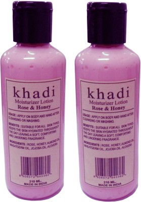 Khadi Herbal Moisturizer Lotion Rose & Honey - Twin pack