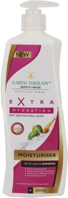 EARTH THERAPY Extra Hydration Olive Leaf & Ginseng Moisturiser 500ml