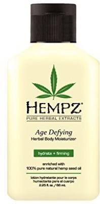 Hempz Age Defying Herbal Body Moisturizer, Off White, Vanilla/Musk