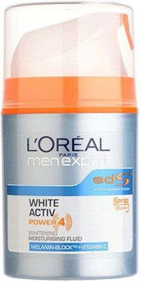 L,Oreal Paris Men Experts White Active Power 4 with Melanin Block and Vitamin C