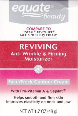 Equate Advanced Reviving Anti Wrinkle and Firming Moisturizer Face and Neck Cream Compare to L,OrealDermo Expertise