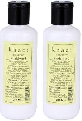 khadi Natural Sandalwood Moisturiser with Sandal Kesar & Aloe Vera