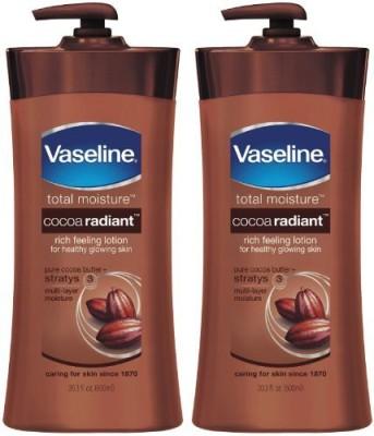 Vaseline Total Moisture Lotion Cocoa Radiant Pump