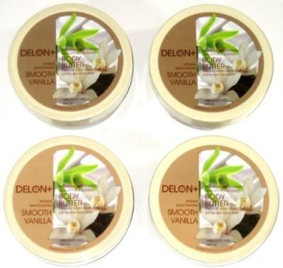 Delon+ DELON Intense Moisturizing Smooth Vanilla Body Butter (4-Pack)