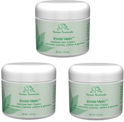 Venus Naturals Invisi-Vein Varicose Vein Cream - 3 Jars - Best Value Pack(60 ml)