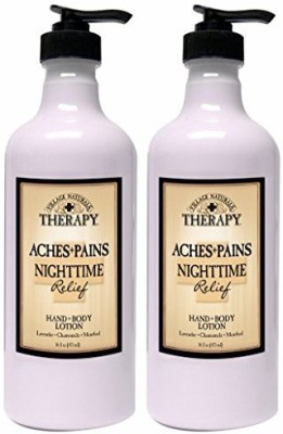Village Naturals Therapy Aches and Pains Nighttime Relief Hand and Body Lotion 2 Pack