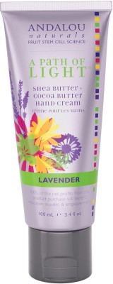 Andalou Naturals A Path of Light, Shea Butter + Cocoa Butter Hand Cream, Lavender