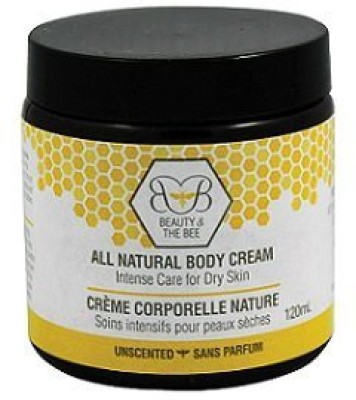 Beauty and the Bee Natural Body Cream - -- With Healing Beeswax