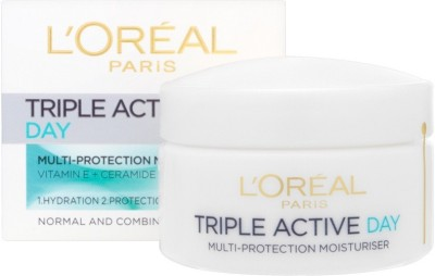 L,Oreal Paris Triple Active 24 Hydration Multi-Protection Day Cream For Normal To Combination Skin