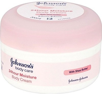 Johnson's Baby Body Care 24 Hour Moisture Body Cream With Shea Butter (Made In France)(200 ml)