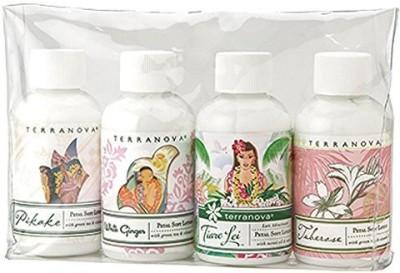 TerraNova Island Escapes Petal Soft Lotion Gift Set Bottles