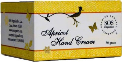 SOS Organics Apricot Hand Cream Enriched With Lavender Essential Oil