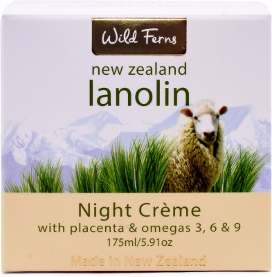 Wild ferns LANOLIN NIGHT CREAM WITH PLACENTA & OMAGA,S 175 ML