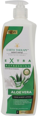 EARTH THERAPY Extra Refreshing Aloevera Hand And Body Lotion 500ml