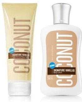 Bath & Body Works Bath and Body Works Coconut Vanillas Body Lotion & Triple Moisture Body Cream (Set of 2)(240 ml)