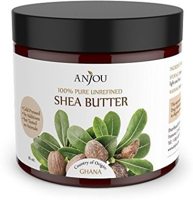 Anjou Unrefined Shea Butter from Africa 16oz - 100% Pure, Raw(Moisturizing, Do-It-Yourself for Soap, Body Lotions and Creams, Lip Balms, etc.)
