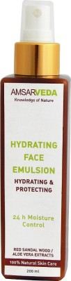 Amsarveda 100% Natural Hydrating Face Emulsion with Aloe Vera & Red Sandalwood
