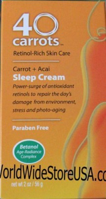 GG 40 Carrots Retinol-Rich Skin Care Carrot Acai Sleep Cream
