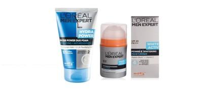 L,Oreal Paris Men Experts White Active Power 4 Moisturiser +Hydra Power Water Duo Foam