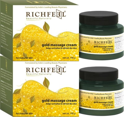 Richfeel Gold massage cream 100g (Pack Of 2)
