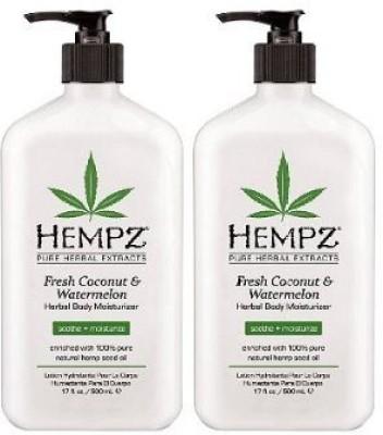 Hempz Herbal Body Moisturizer Fresh Coconut & Watermelon - New (Pack of 2)