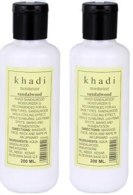 khadi Natural Sandalwood Moisturizer with Sandal, Kesar & Aloevera (Twin Pack)