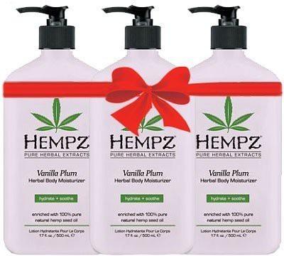 Hempz Vanilla Plum Herbal Body Moisturizer (3 pack)