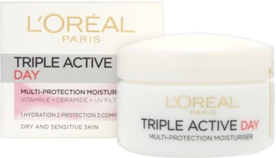 L,Oreal Paris Triple Active 24 Hydration Multi-Protection Day Moisturiser
