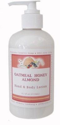 Mountain Country Soap Oatmeal Honey Almond Aromatherapy Hand & Body Lotion
