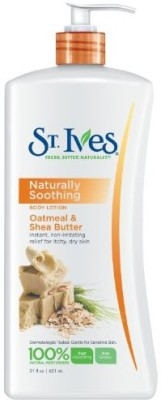 St. Ives Body Lotion, Naturally Soothing Oatmeal & Shea Butter
