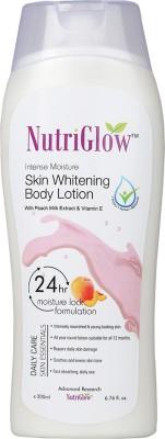 NutriGlow Skin Whitening Body Lotion with Peach Milk Extract & Vitamin E