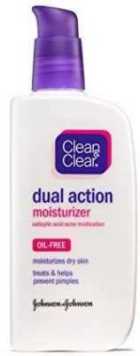 Clean & Clear Dual Action Moisturizer, (Pack of 3)