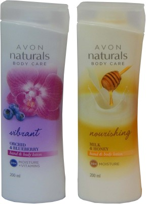 Avon Naturals Body Care Vibrant & Nourishing Hand & Body Lotion (Set of 2 )