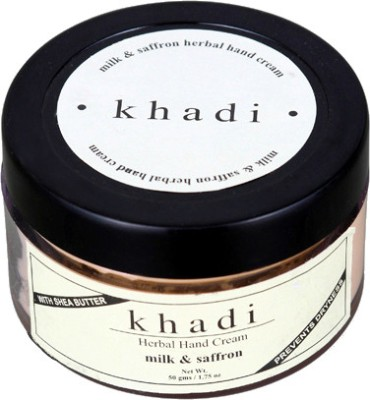 khadi Natural Milk & Saffron Herbal Hand Cream (With Shea Butter)