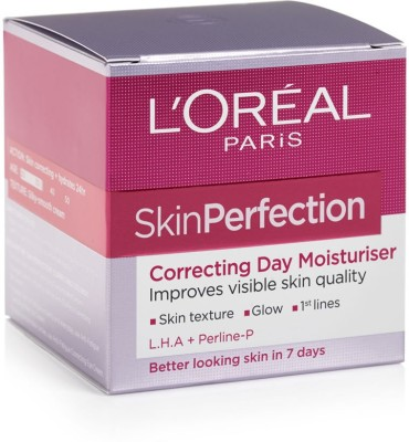 L,Oreal Paris Skin Perfection Correcting Day Moisturiser Cream L.H.A + Perline P