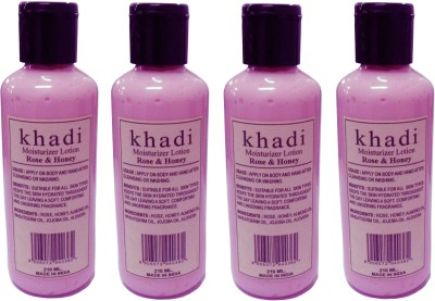Khadi Herbal Moisturizer Lotion Rose & Honey
