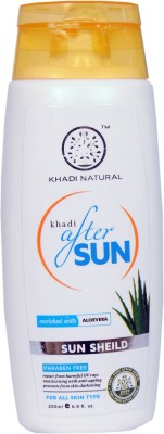 Khadi Natural After Sun Enriched With Aloevera Sun Sheild(200 ml)