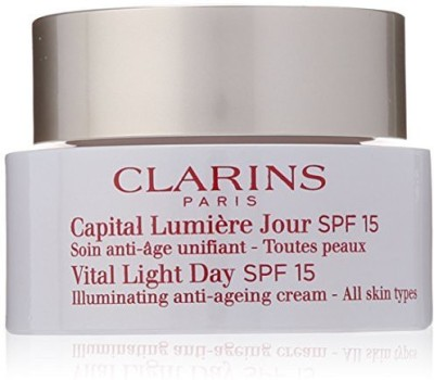 Clarins vital light day spf 15 illuminating anti-ageing cream for unisex, 1.7 ounce