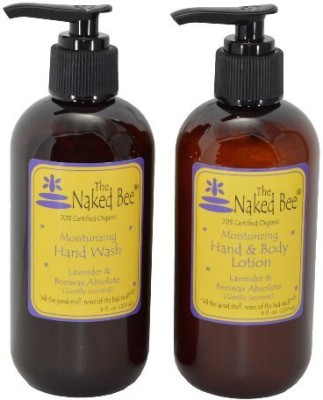 The Naked Bee Naked Bee Lavender & Beeswax Absolute Moisturizing Hand Wash ( ) and Hand & Body Lotion ( ) (Pack of 2)