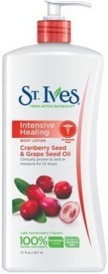 St. Ives Intensive Healing Body Lotion With Cranberry Seed & Grape Seed Oil