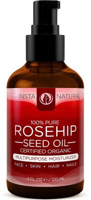 Rosehip Seed Oil Moisturizer for Skin, Hair, Stretch Marks, Scars, Discoloration, Wrinkles & Fine Lines
