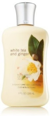 Bath & Body Works white tea and ginger body lotion pleasures collection 8 oz