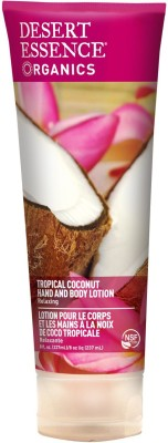 Desert Essence Organics, Hand and Body Lotion, Tropical Coconut