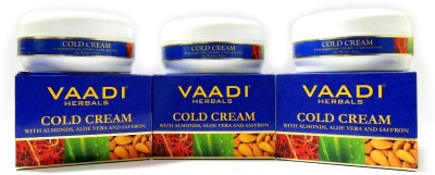 Vaadi Herbals Herbals Cold Cream with Almond Oil & Aloe Vera - Pack of 3